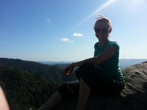 Me, on a hike with my family at Castle Rock.